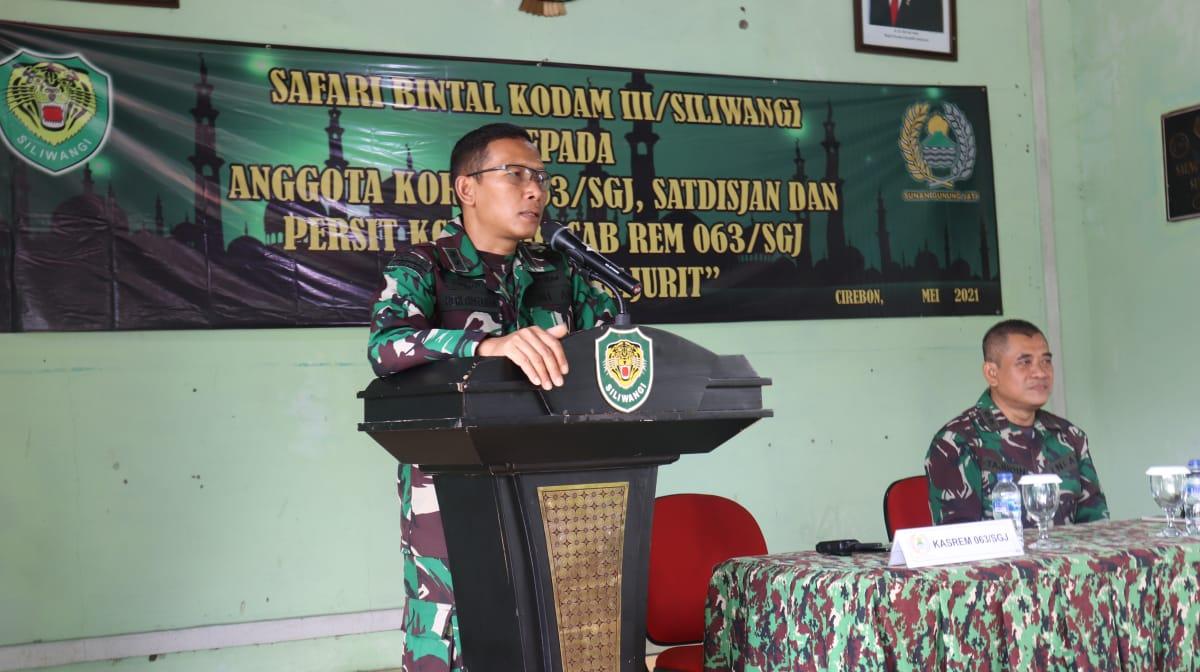 Sasaran Safari Bintaldam III/Slw Tingkatkan Militansi Prajurit Korem 063/Sgj