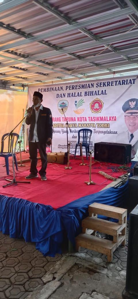 Pembinaan Peresmian Sekretariat Dan Halal Bihalal Karang Taruna Kota Tasikmalaya