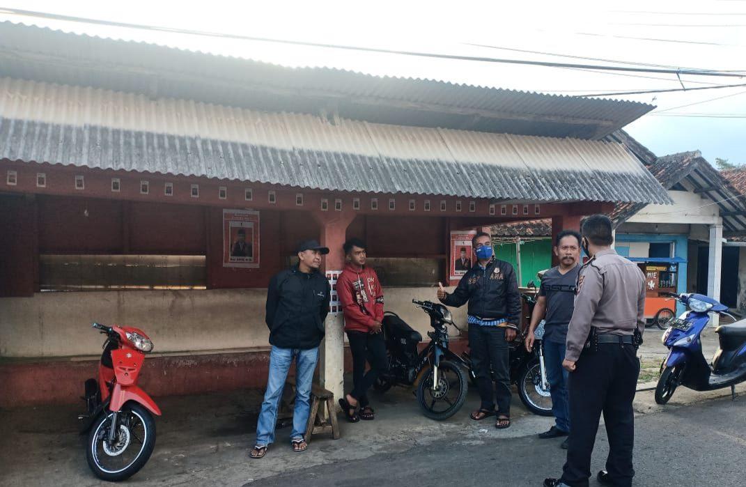 Patroli KRYD Polsek Cikijing Berikan Himbauan Pencegahan Penyebaran Covid-19