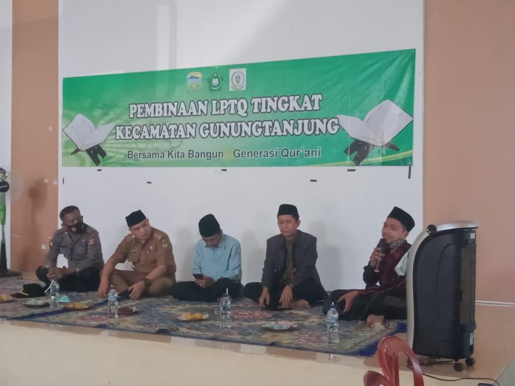 Pembinaan LPTQ Tingkat Kecamatan Gunung Tanjung Bersama Kita Bangun Generasi Qur'ani