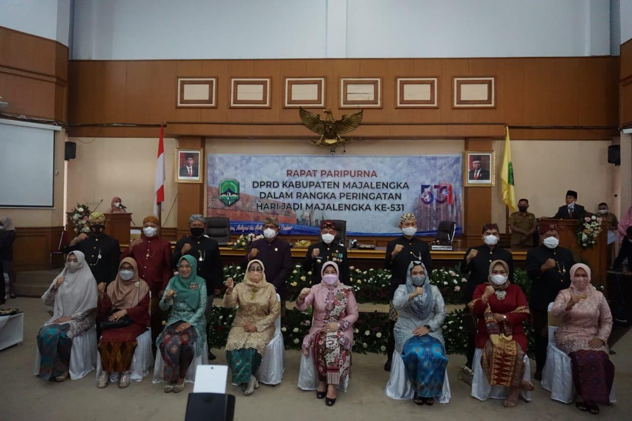 Kapolres Hadiri Rapat Paripurna DPRD Dalam Rangka Hari Jadi Majalengka Ke 531 Tahun 2021