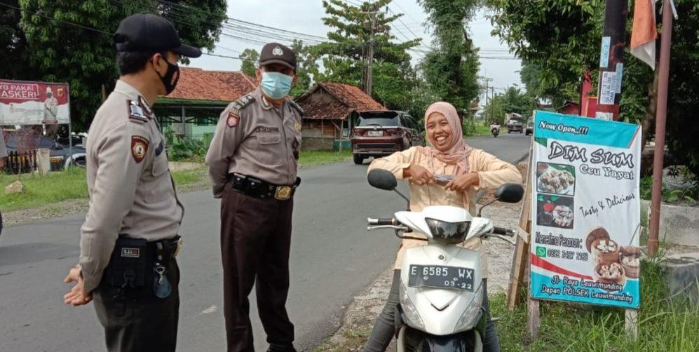 Operasi Yustisi PPKM Mikro Terus Dilakukan Polsek Leuwimunding Cegah Penyebaran Covid 19