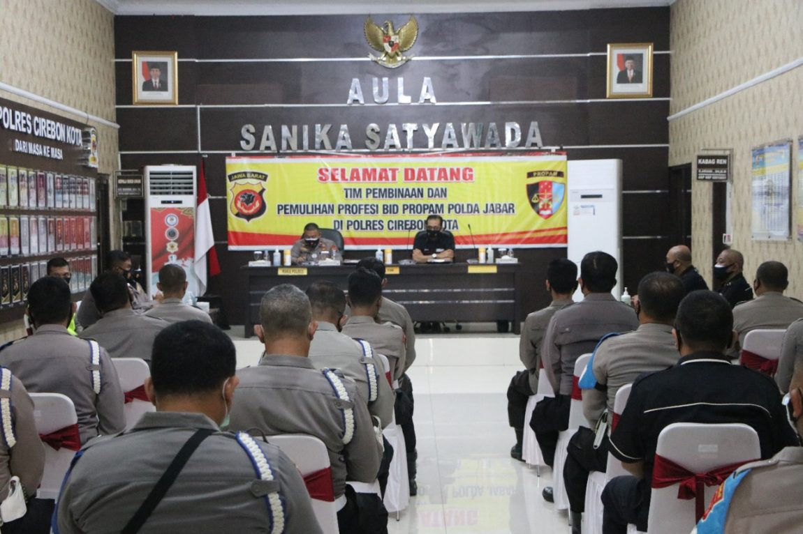 Wakapolres Ciko Buka Giat Pembinaan, Pemulihan Profesi Oleh Tim Subbag Rehab Bid Propam Polda Jabar di Polres Cirebon Kota