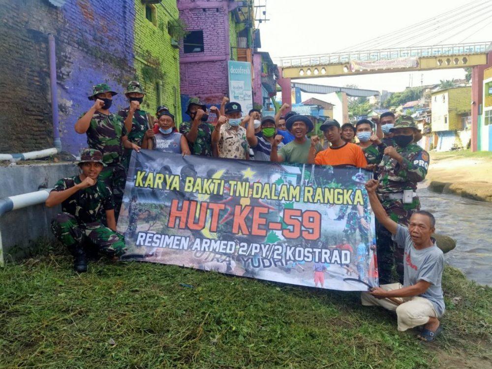 Peringati HUT ke 59, Menarmed 2 Kostrad Laksanakan Karya Bhakti