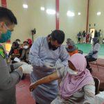 Sukseskan Program Pemerintah Tangani Covid-19, Polres Majalengka Kembali Gelar Vaksinasi