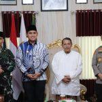 Bupati, Kapolres dan Dandim 0715/Kendal Silaturahmi ke Habib Lutfi
