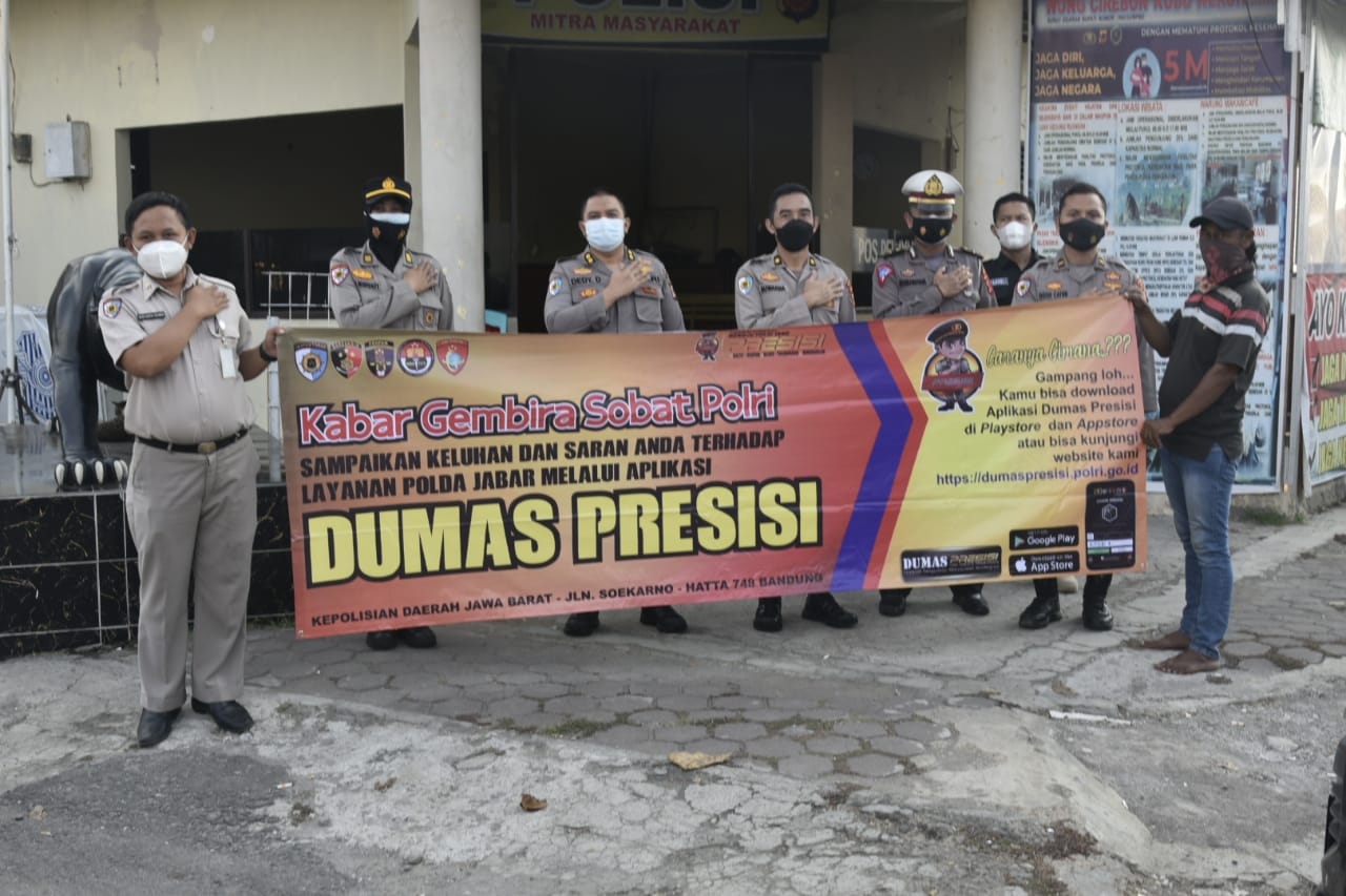 Itwasda Polda Jabar Sosialisasikan Aplikasi E-Dumas Presisi Di Wilayah Polresta Cirebon