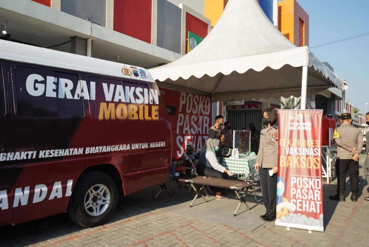 Kapolri Gelar Posko PPKM di Pasar, Pastikan Perekonomian dan Protokol Kesehatan Berjalan
