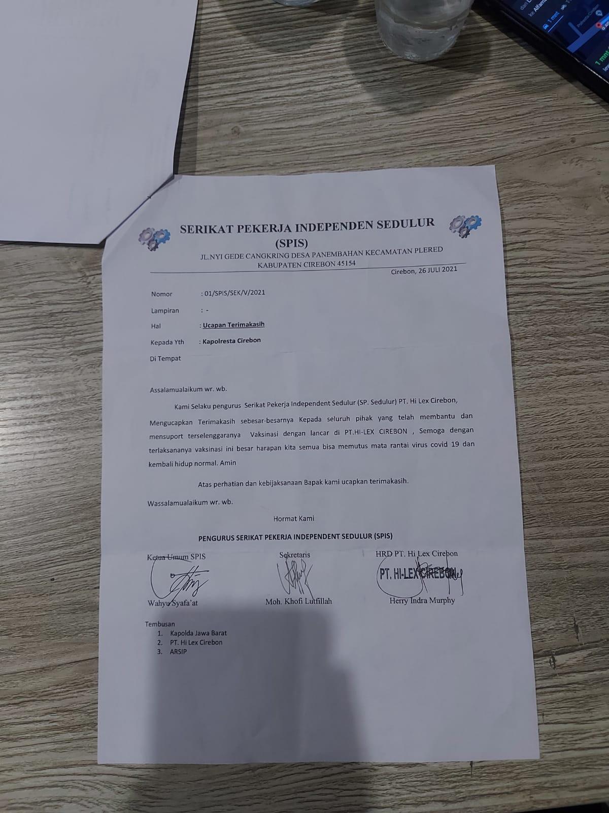 Karyawan Perusahaan Datangi Polresta Cirebon, Ada Apa?