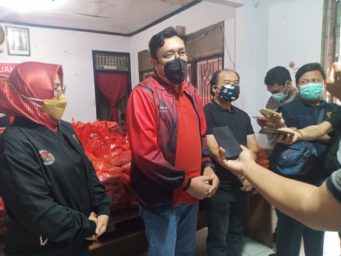 Ono Surono : PDI Perjuangan Komitmen Bantu Rakyat dan Pemerintah Hadapi Corona