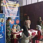 Kapolsek Argapura Bersama Danramil Monitoring Vaksin covid-19 Di Gerai Presisi Sinergitas Desa Sukasari