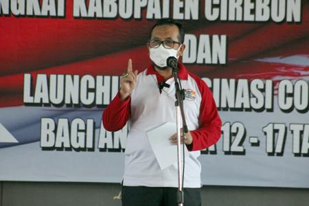 Bupati Cirebon Targetkan Tiga Ribu Anak Divaksin Covid-19
