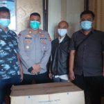 Sukseskan Program PPKM, Jalin Kerjasama Dengan Pemuda Muhammadiyah Polres Majalengka Berikan 2000 Masker