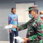 Babinsa Koramil 0620-15/Klangenan, Kodim 0620/Kab Cirebon, Rutin Lakukan Himbauan Prokes