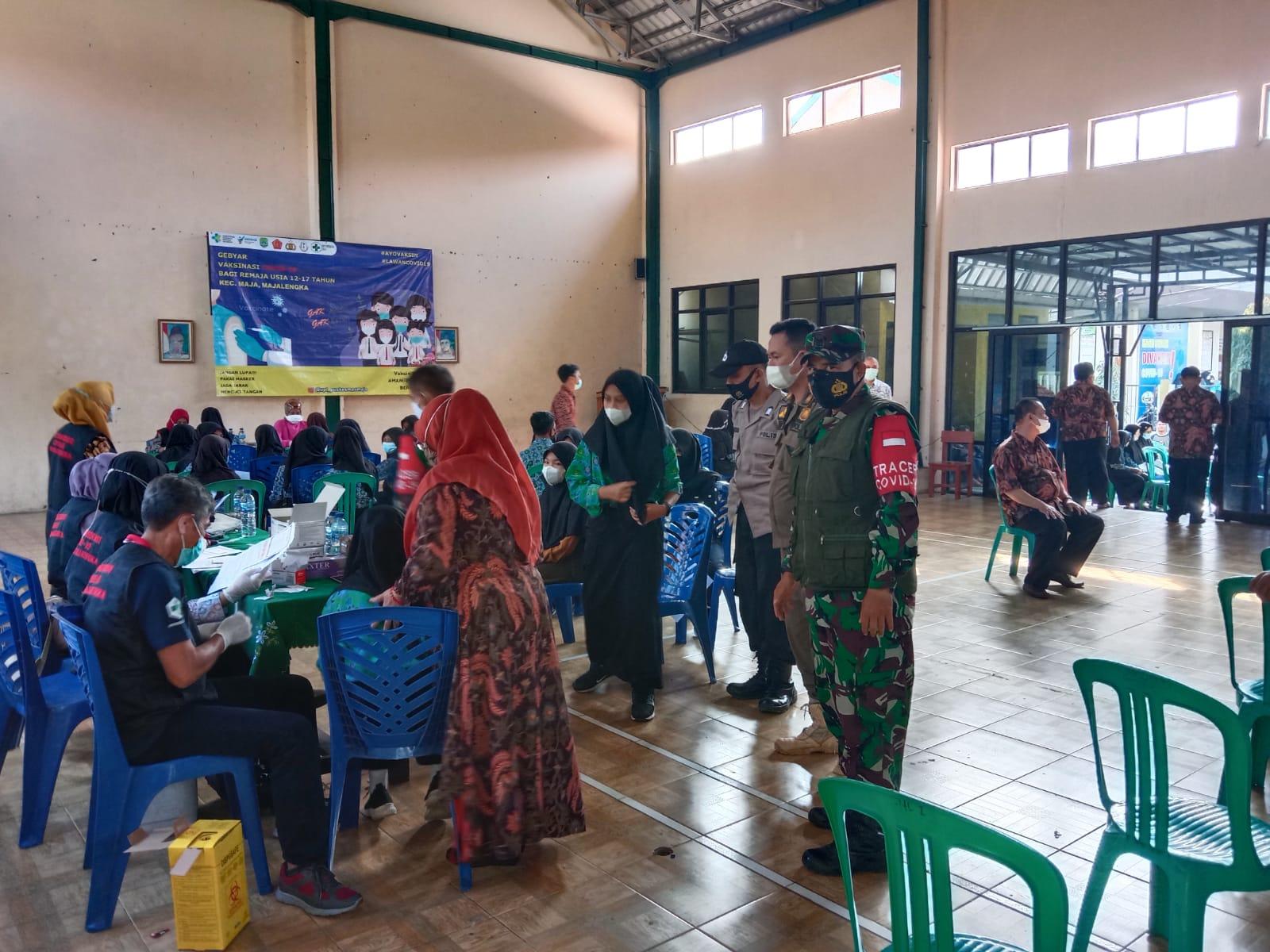 Danramil 1702/Maja : TNI Selalu Hadir Bersama Instansi Terkait Untuk Membantu Satgas Covid-19