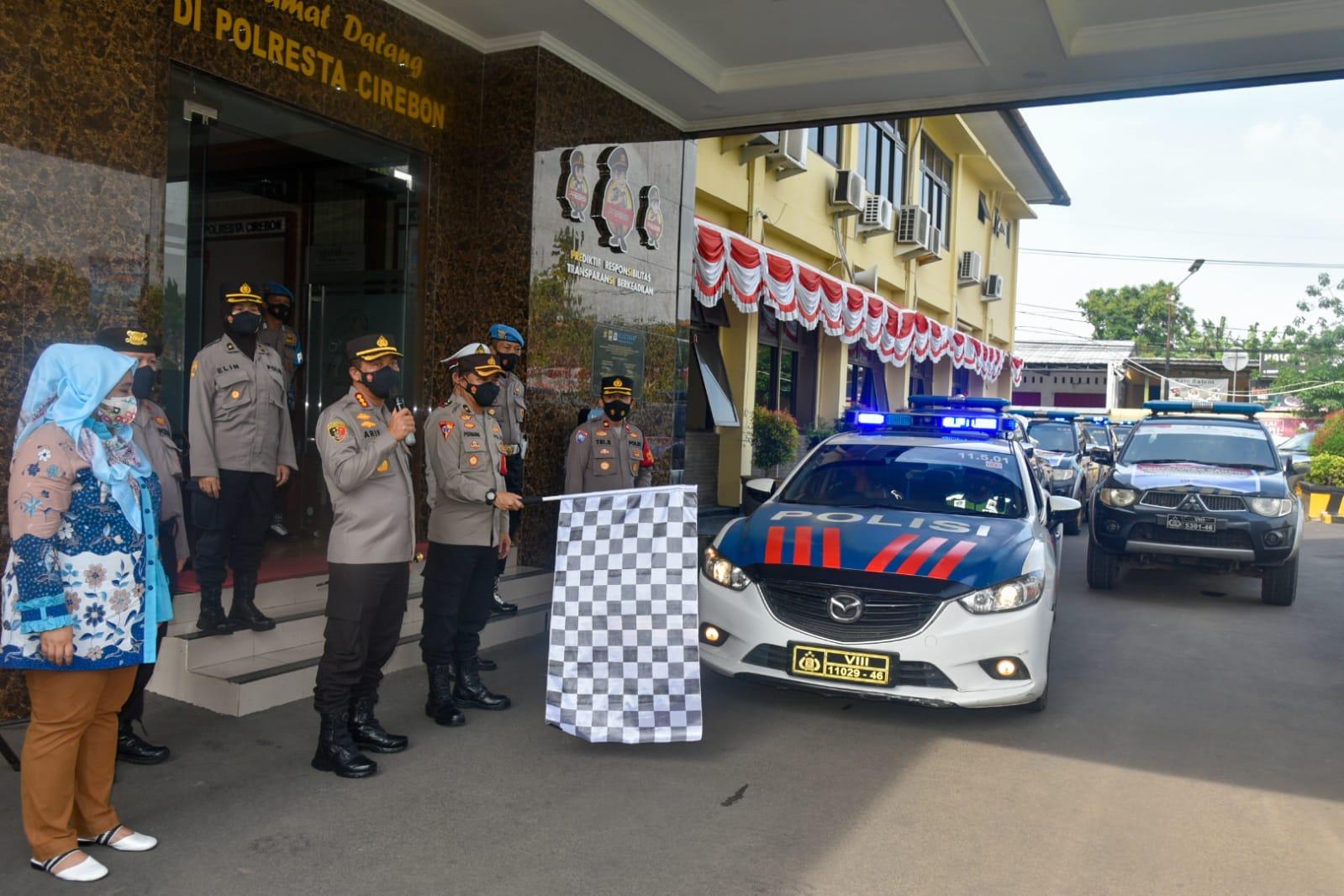 Polresta Cirebon Distribusikan Bantuan 50 Ton Beras dari Sekretariat Kepresidenan RI