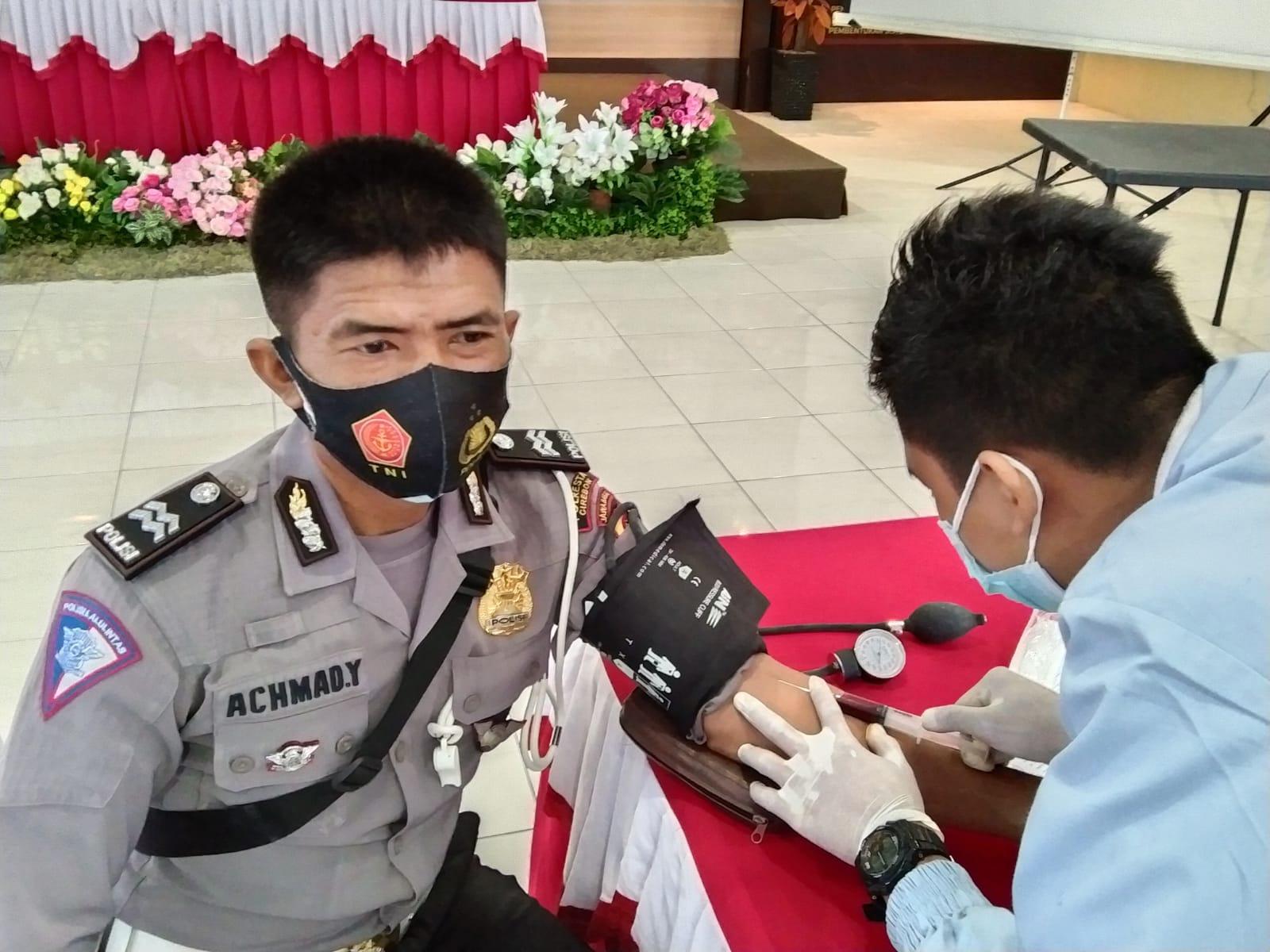 Polresta Cirebon Bantu Penanganan Pasien Covid-19 Melalui Donor Plasma Konvalesen