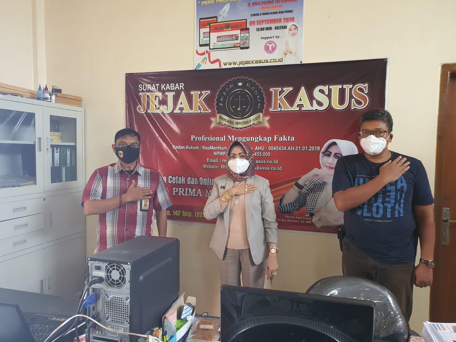 Kasi Humas Polres Cirebon Kota Jalin Silahturahmi ke Kantor Media Cetak dan Online Jejak Kasus
