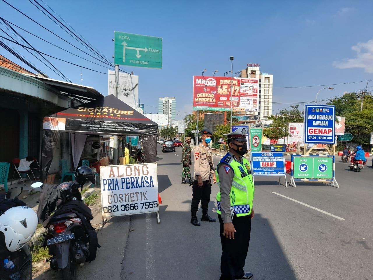 998 Kendaraan Diputar Balikkan Dalam Pelaksanaan Ganjil-Genap di Kota Cirebon