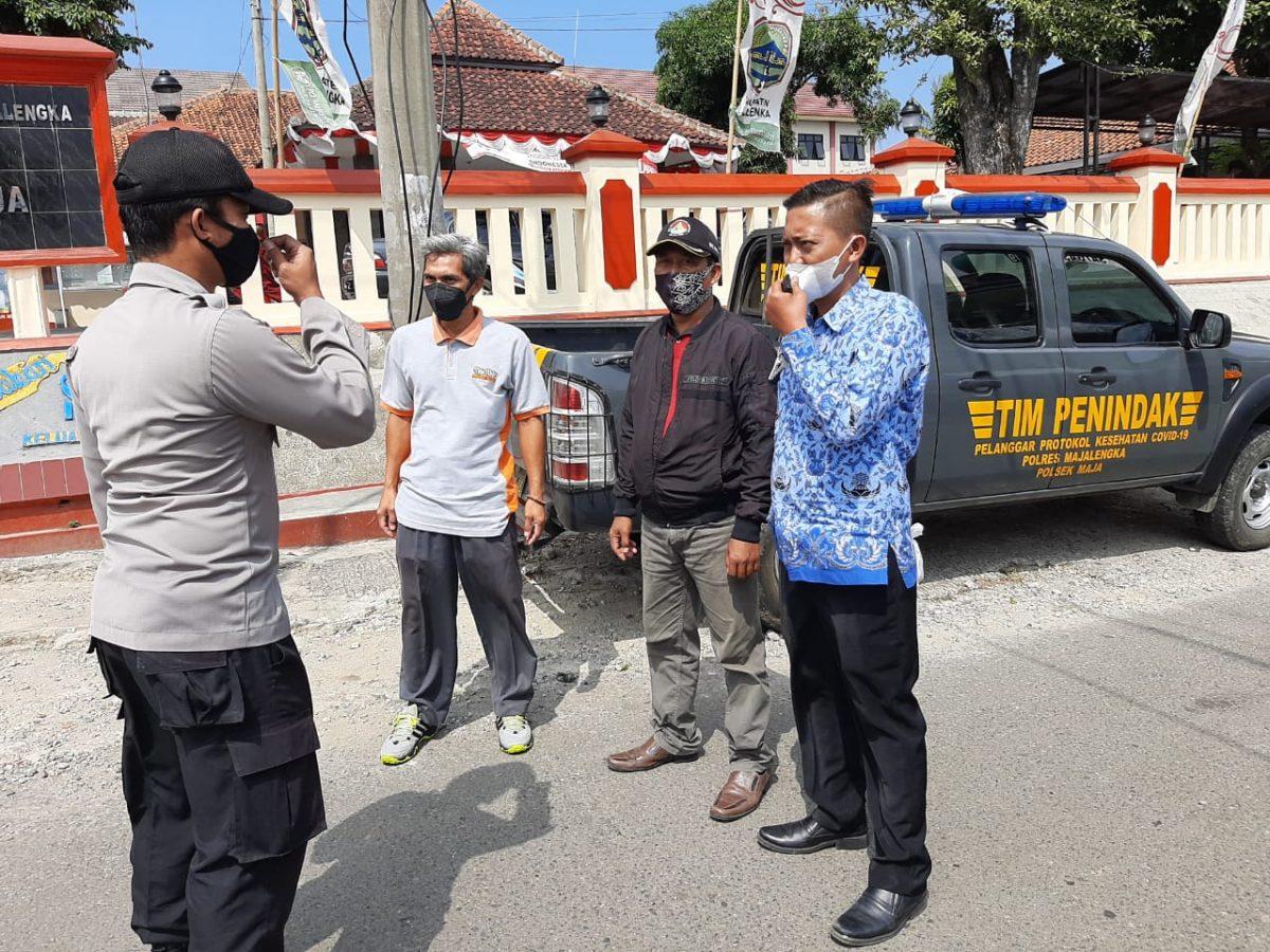 Patroli Dialogis Polsek Maja Himbau Warga Agar Tetap Patuhi Prokes