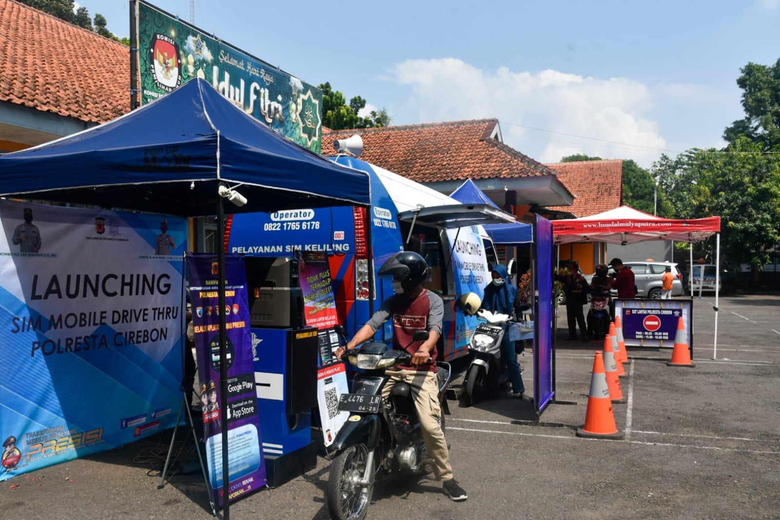 Satlantas Polresta Cirebon Luncurkan Pelayanan SIM Drive Thru