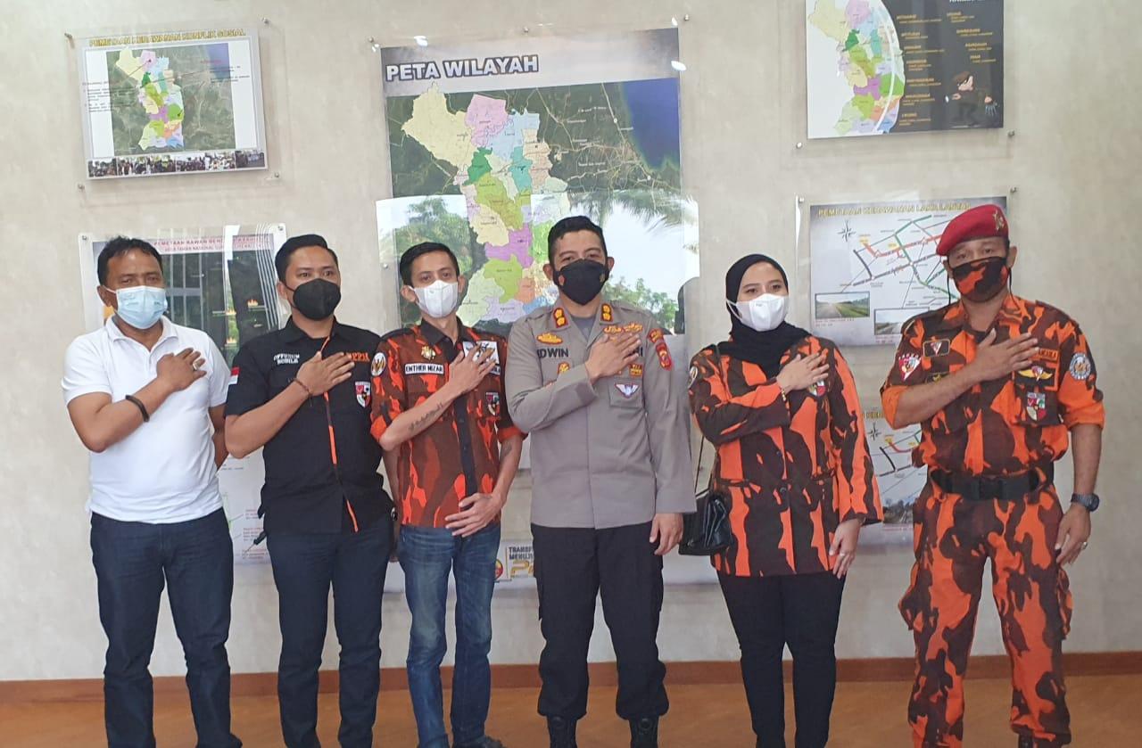 MPC Pemuda Pancasila Majalengka Siap Bersinergi Dengan Polres Majalengka Untuk Menanggulangi Covid-19