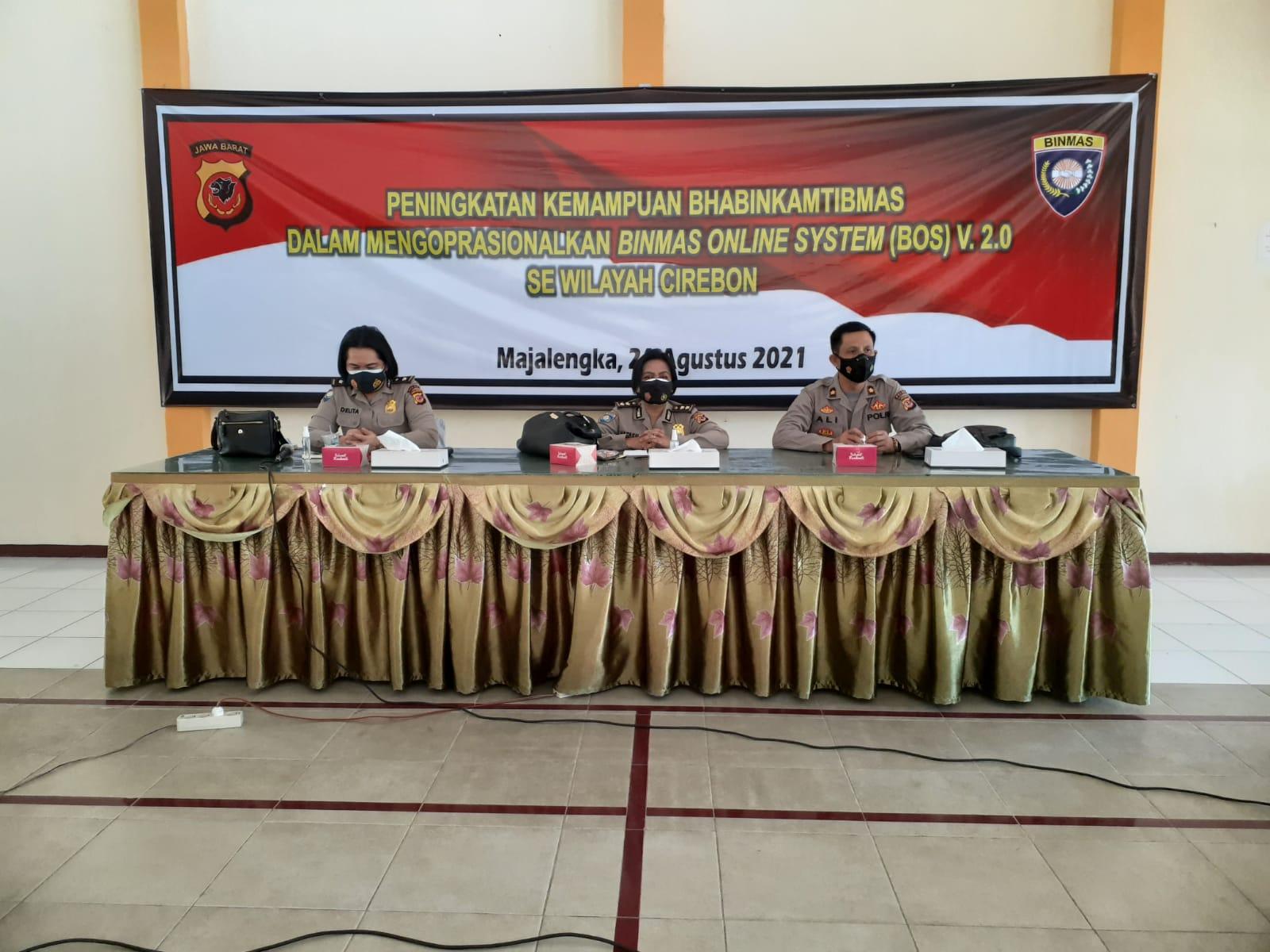 Ditbinmas Polda Jabar Gelar Pelatihan Binmas Online System (BOS) Versi 2.0 di Majalengka
