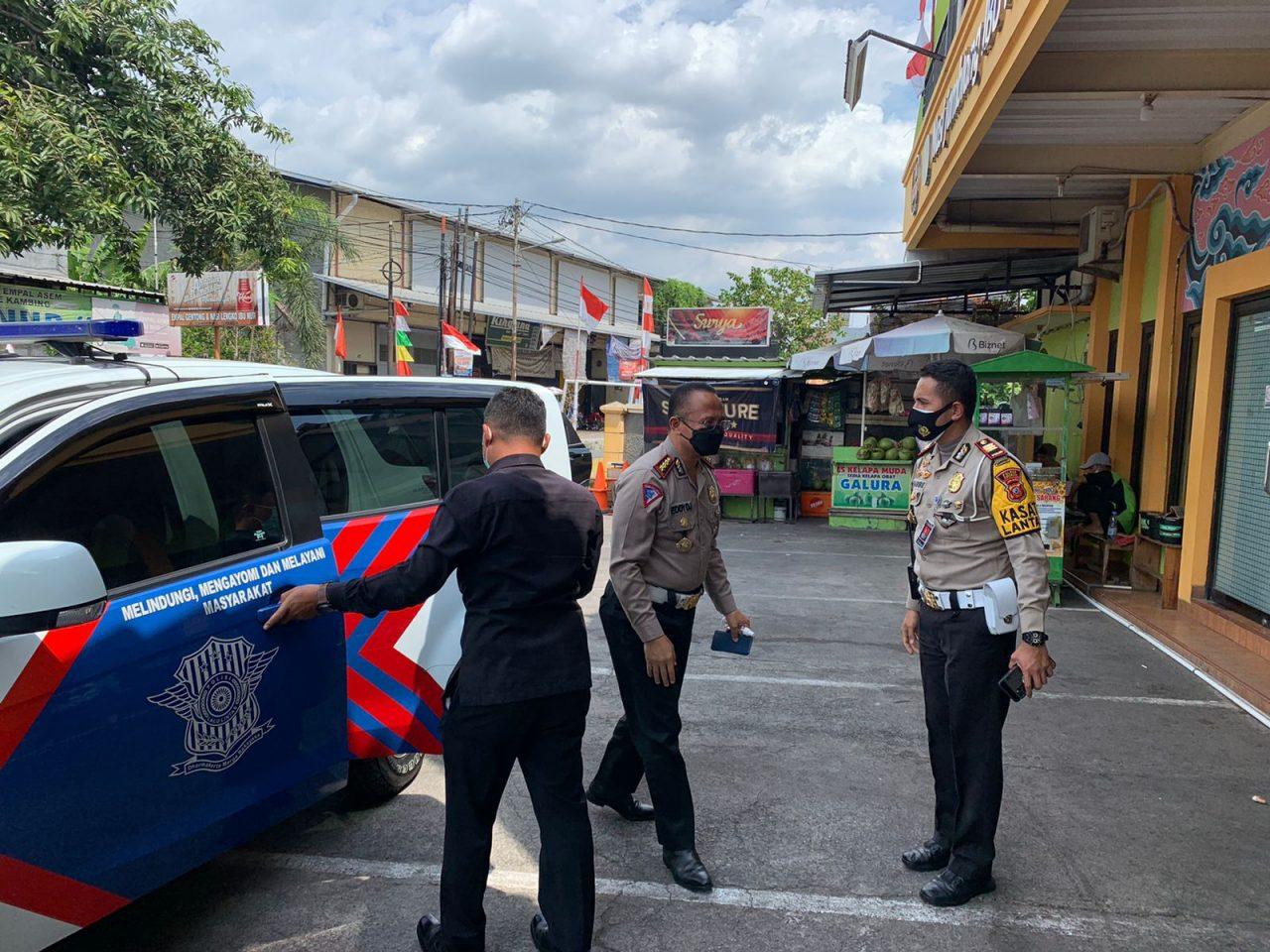 Kasat Lantas Polres Cirebon Kota Dampingi Dirlantas Polda Jabar Laksanakan Pengecekan Kesiapan Kunjungan Presiden RI