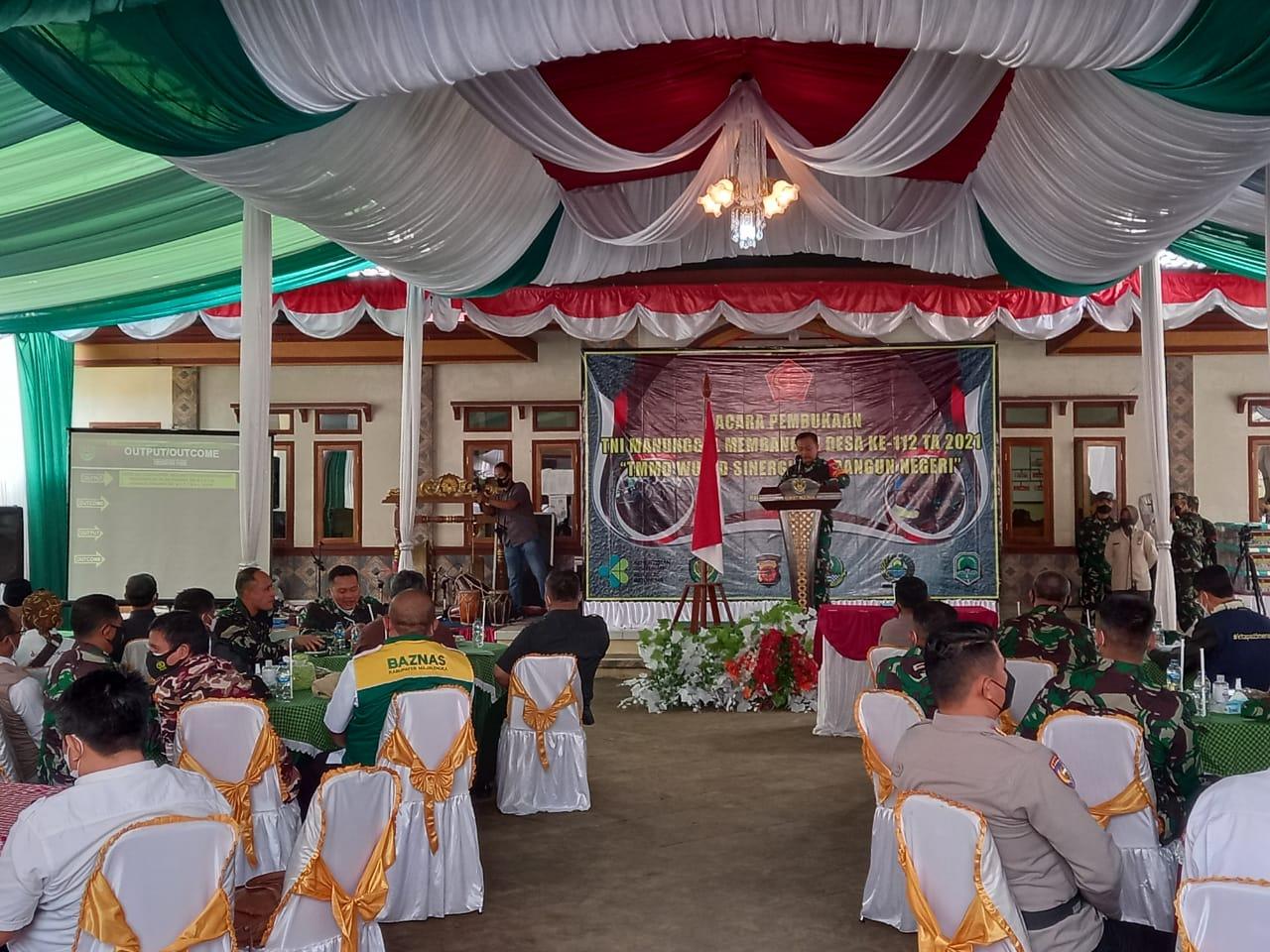 Kapolres Majalengka Menghadiri Pembukaan TNI Manunggal Membangun Desa Ke-112 Tahun 2021