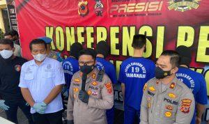 Lima Tersangka Spesialis Ganjal ATM Lintas Propinsi Dibekuk Sat Reskrim Polres Ciko