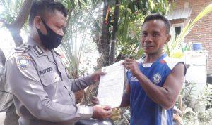 Bhabinkamtibmas Desa Pasindangan Belanja Masalah Pada Hari Minggu