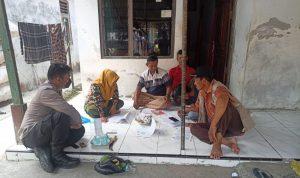 Bhabin Desa Pegagan Kidul Polsek Kapetakan Polres Ciko, Monitoring Sensus TPDP